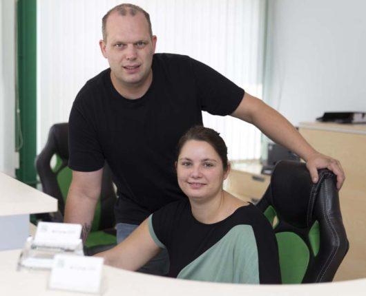 Donovan Bukow / Geschäftsführer + Mandy Bukow / Buchhaltung